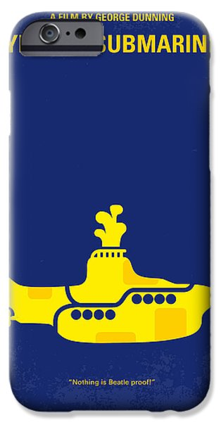 Graphic Design iPhone Cases - No257 My YELLOW SUBMARINE minimal movie poster iPhone Case by Chungkong Art