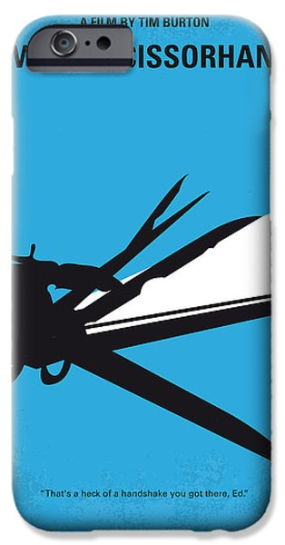 Graphic Design iPhone Cases - No260 My Scissorhands minimal movie poster iPhone Case by Chungkong Art