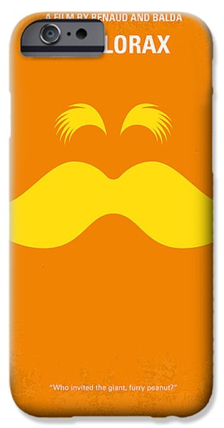 Tree Print Digital iPhone Cases - No261 My THE LORAX minimal movie poster iPhone Case by Chungkong Art