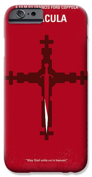 Francis Ford Coppola iPhone Cases - No263 My DRACULA minimal movie poster iPhone Case by Chungkong Art
