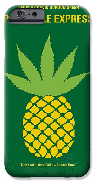Graphic Design iPhone Cases - No264 My PINEAPPLE EXPRESS minimal movie poster iPhone Case by Chungkong Art