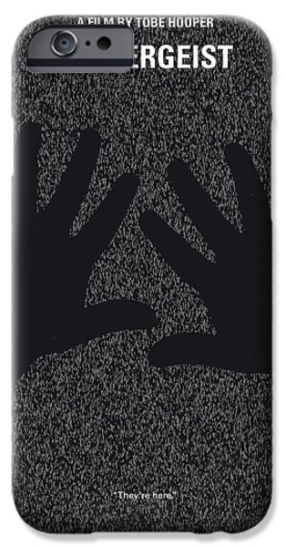 Graphic Design iPhone Cases - No266 My POLTERGEIST minimal movie poster iPhone Case by Chungkong Art