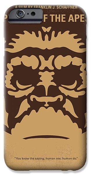 Ape Digital iPhone Cases - No270 My PLANET OF THE APES minimal movie poster iPhone Case by Chungkong Art