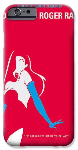 Murder iPhone Cases - No271 My ROGER RABBIT minimal movie poster iPhone Case by Chungkong Art