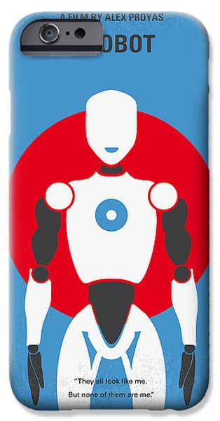 Graphic Design iPhone Cases - No275 My I ROBOT minimal movie poster iPhone Case by Chungkong Art