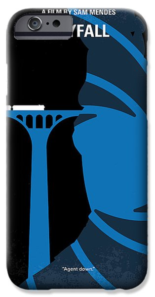 Young Digital iPhone Cases - No277-007-2 My Skyfall minimal movie poster iPhone Case by Chungkong Art