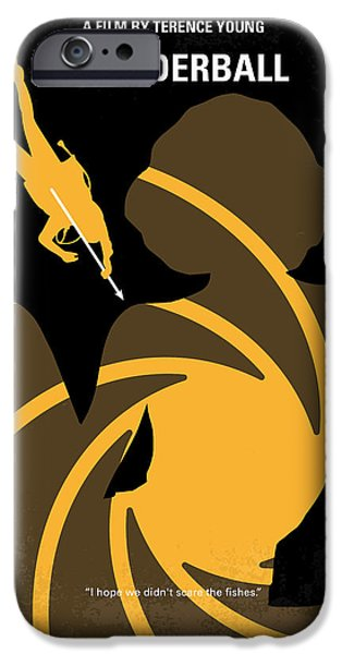 Young Digital iPhone Cases - No277-007 My Thunderball minimal movie poster iPhone Case by Chungkong Art