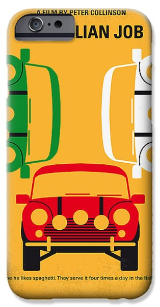 The Gift iPhone Cases - No279 My The Italian Job minimal movie poster iPhone Case by Chungkong Art