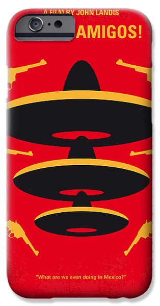 Chase iPhone Cases - No285 My Three Amigos minimal movie poster iPhone Case by Chungkong Art