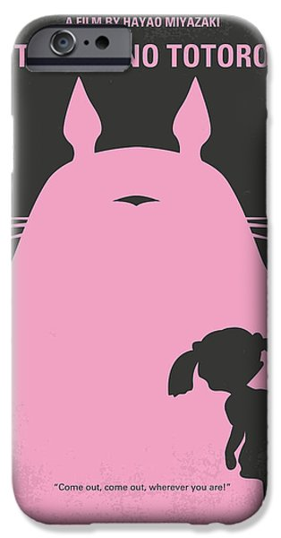 Forest Digital iPhone Cases - No290 My My Neighbor Totoro minimal movie poster iPhone Case by Chungkong Art