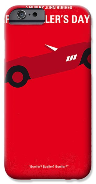 Schools iPhone Cases - No292 My Ferris Buellers day off minimal movie poster iPhone Case by Chungkong Art