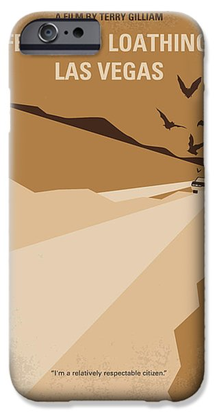 Hunter iPhone Cases - No293 My Fear and loathing Las vegas minimal movie poster iPhone Case by Chungkong Art