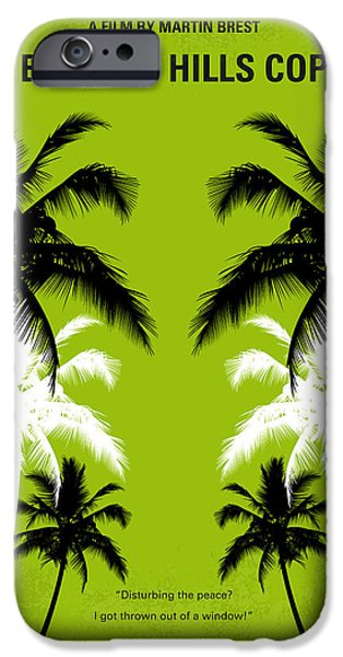 Graphic Design iPhone Cases - No294 My Beverly Hills cop minimal movie poster iPhone Case by Chungkong Art