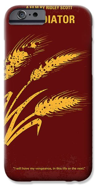 Roman iPhone Cases - No300 My GLADIATOR minimal movie poster iPhone Case by Chungkong Art