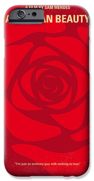 Life Digital Art iPhone Cases - No313 My American Beauty minimal movie poster iPhone Case by Chungkong Art