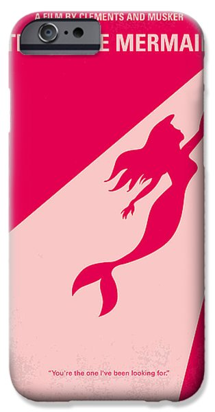 Christian Artwork Digital Art iPhone Cases - No314 My Mermaid minimal movie poster iPhone Case by Chungkong Art