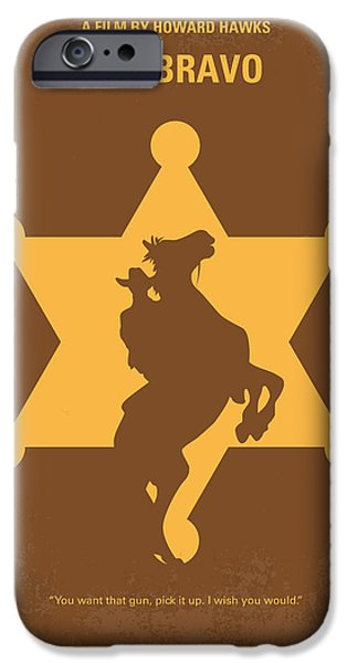 Sheriff iPhone Cases - No322 My Rio Bravo minimal movie poster iPhone Case by Chungkong Art
