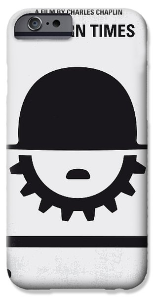 Industrial Icon iPhone Cases - No325 My MODERN TIMES minimal movie poster iPhone Case by Chungkong Art