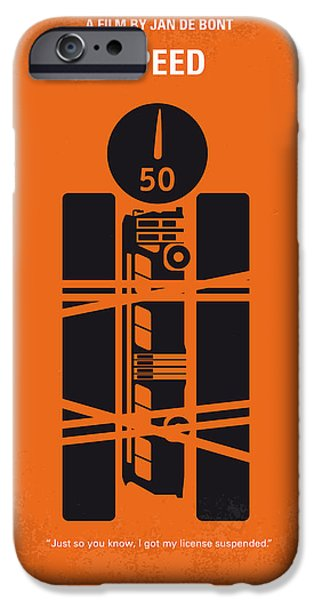 Speed iPhone Cases - No330 My SPEED minimal movie poster iPhone Case by Chungkong Art