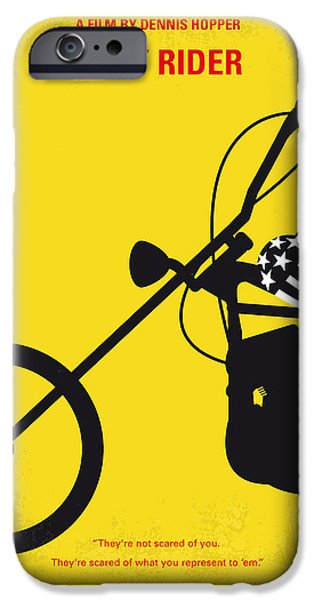 Sale Digital Art iPhone Cases - No333 My EASY RIDER minimal movie poster iPhone Case by Chungkong Art
