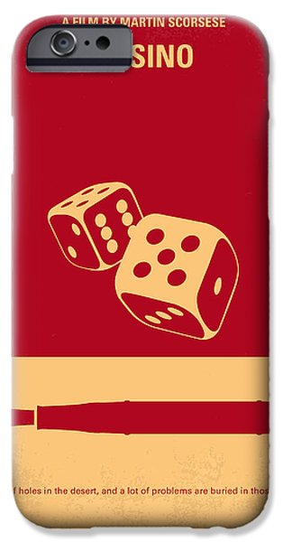 Minimalism iPhone Cases - No348 My Casino minimal movie poster iPhone Case by Chungkong Art