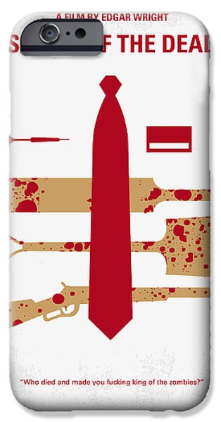Sale Digital Art iPhone Cases - No349 My Shaun of the Dead minimal movie poster iPhone Case by Chungkong Art