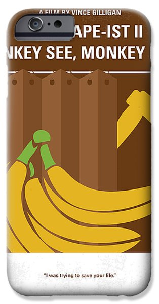 Shower iPhone Cases - No356 My Serial Ape-ist minimal movie poster iPhone Case by Chungkong Art