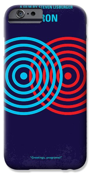 Recently Sold -  - Cyberspace iPhone Cases - No357 My TRON minimal movie poster iPhone Case by Chungkong Art