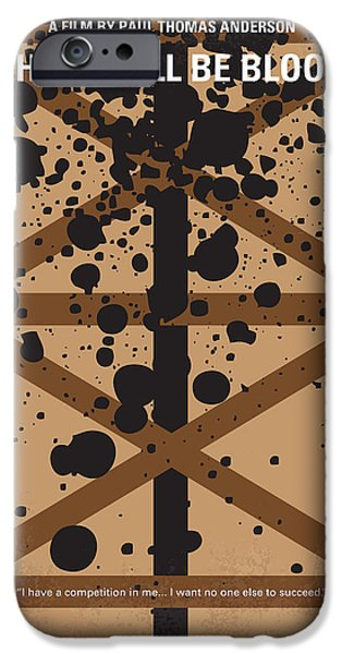 Daniel iPhone Cases - No358 My There Will Be Blood minimal movie poster iPhone Case by Chungkong Art