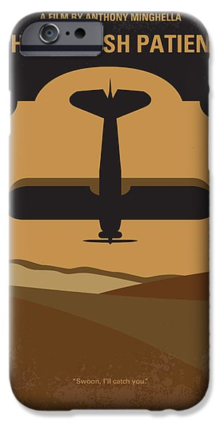 Film Maker iPhone Cases - No361 My The English Patient minimal movie poster iPhone Case by Chungkong Art