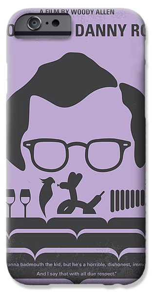 Graphic Design iPhone Cases - No363 My Broadway Danny Rose minimal movie poster iPhone Case by Chungkong Art