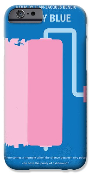Graphic Design iPhone Cases - No365 My Betty Blue minimal movie poster iPhone Case by Chungkong Art