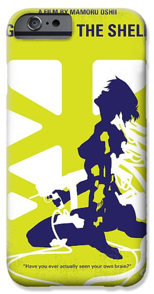 Sectioned iPhone Cases - No366 My Ghost in the Shell minimal movie poster iPhone Case by Chungkong Art