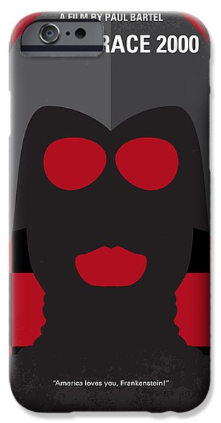 Run iPhone Cases - No371 My Death Race 2000 minimal movie poster iPhone Case by Chungkong Art