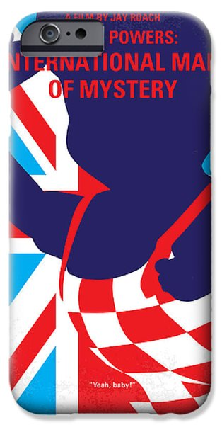 Mysteries iPhone Cases - No373 My Austin Powers I minimal movie poster iPhone Case by Chungkong Art