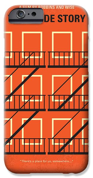 Minimalism iPhone Cases - No384 My West Side Story minimal movie poster iPhone Case by Chungkong Art