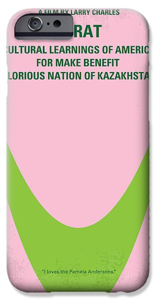 Nation iPhone Cases - No386 My Borat minimal movie poster iPhone Case by Chungkong Art