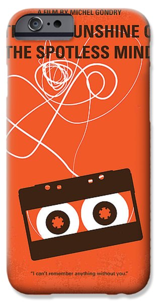 Minimalism iPhone Cases - No387 My Eternal Sunshine of the Spotless Mind minimal movie pos iPhone Case by Chungkong Art