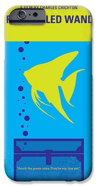 Graphic Design iPhone Cases - No389 My A Fish Called Wanda minimal movie poster iPhone Case by Chungkong Art
