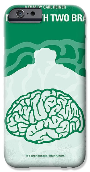 Benedict iPhone Cases - No390 My The Man With Two Brains minimal movie poster iPhone Case by Chungkong Art