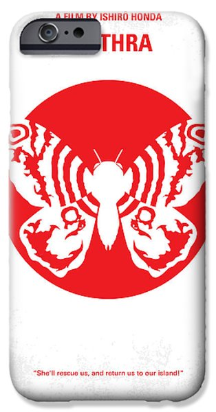 Moth iPhone Cases - No391 My Mothra minimal movie poster iPhone Case by Chungkong Art