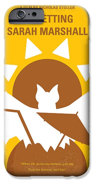 Graphic Design iPhone Cases - No393 My Forgetting Sarah Marshall minimal movie poster iPhone Case by Chungkong Art