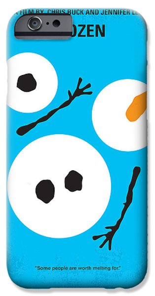 Winter iPhone Cases - No396 My Frozen minimal movie poster iPhone Case by Chungkong Art
