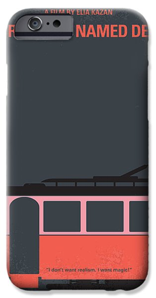 Graphic Design iPhone Cases - No397 My street car named desire minimal movie poster iPhone Case by Chungkong Art