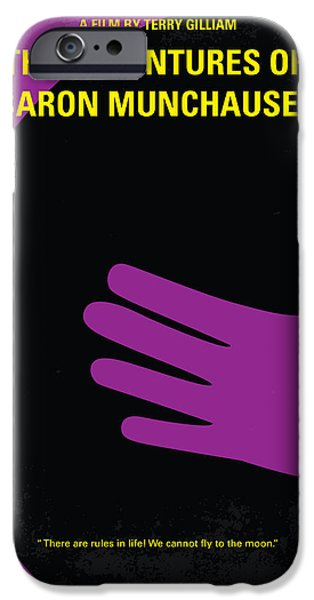 Graphic Design iPhone Cases - No399 My Baron von munchhausen minimal movie poster iPhone Case by Chungkong Art