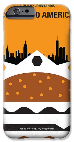 Queen Digital iPhone Cases - No402 My Coming to America minimal movie poster iPhone Case by Chungkong Art