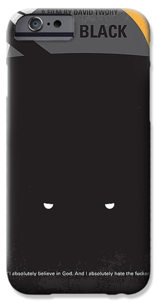 Graphic Design iPhone Cases - No409 My Pitch Black minimal movie poster iPhone Case by Chungkong Art