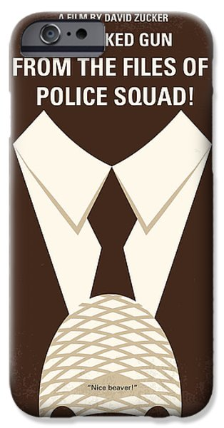Police Art iPhone Cases - No432 My The Naked Gun minimal movie poster iPhone Case by Chungkong Art
