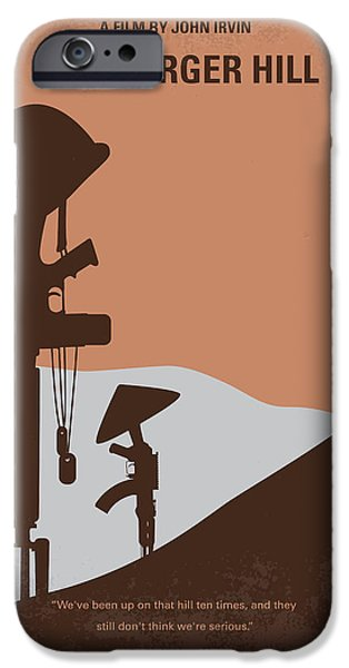 Regiment iPhone Cases - No428 My Hamburger Hill minimal movie poster iPhone Case by Chungkong Art
