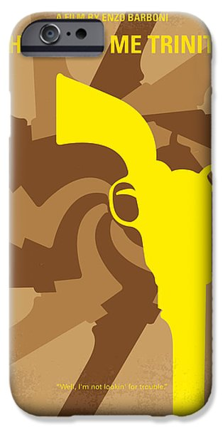 Sheriff iPhone Cases - No431 My They Call Me Trinity minimal movie poster iPhone Case by Chungkong Art
